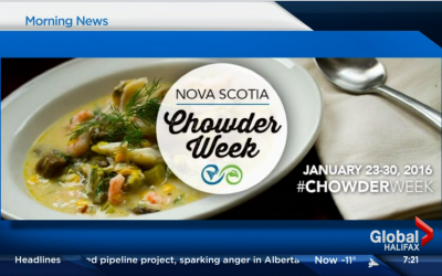 The Grand Banker on Global News for Chowder Week